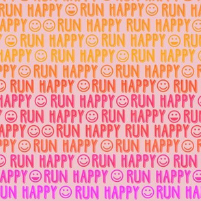 run happy faces  sunset