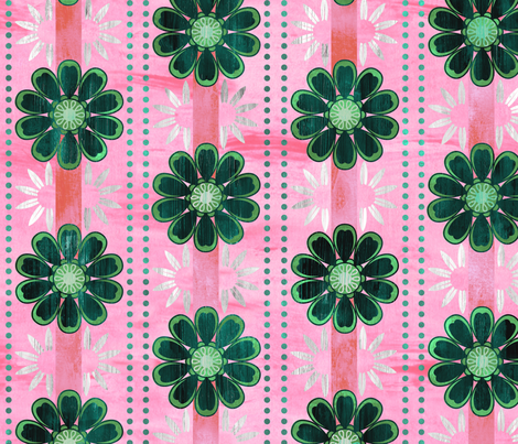 bali bali flower pink fabric by schatzibrown on Spoonflower - custom fabric