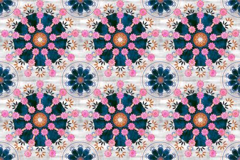 bali bali mandala white fabric by schatzibrown on Spoonflower - custom fabric