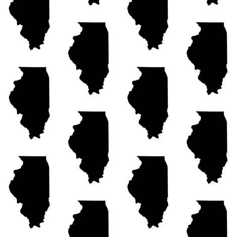 Illinois // Small fabric by thinlinetextiles on Spoonflower - custom fabric