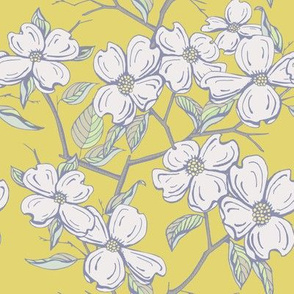 Dogwood Floral in Lemon