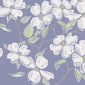 Dogwood Floral in Purple