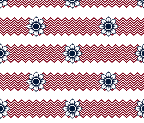 Red, White, and Chevron fabric by katjamarie on Spoonflower - custom fabric