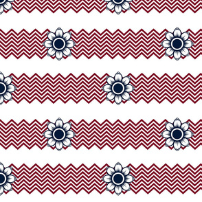 Red, White, and Chevron