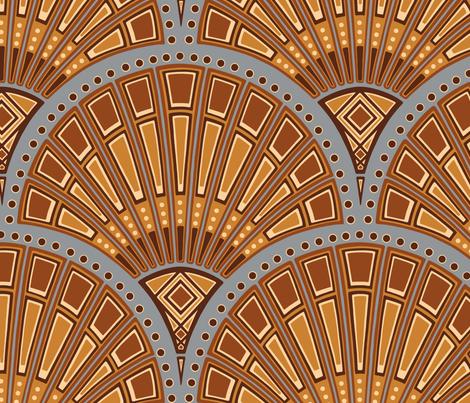 Art Deco Fans fabric by willowbirdstudio on Spoonflower - custom fabric