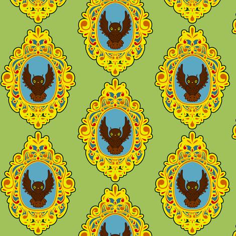 Owl Cameo fabric by jadegordon on Spoonflower - custom fabric
