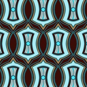 Brown and Blue Deco Coordinate