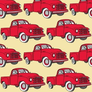 Nifty Fifties red 1951 Studebaker pick up truck