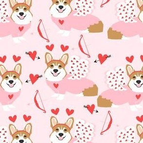corgi love bug welsh corgi valentines cupid costume pink