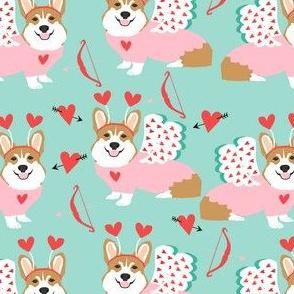 corgi love bug welsh corgi valentines cupid costume mint