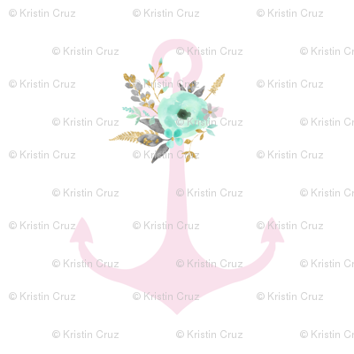Mint Floral Pink anchor