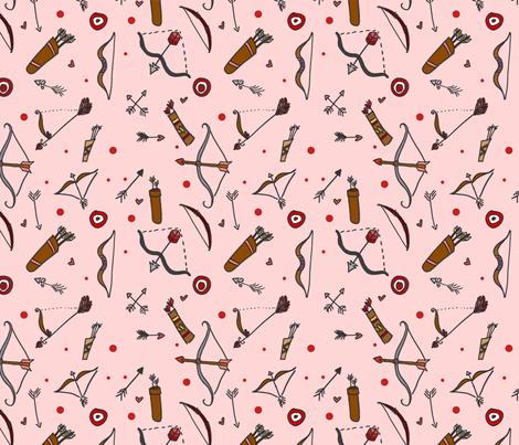 Target Practice Pink fabric by geekygamergirl on Spoonflower - custom fabric