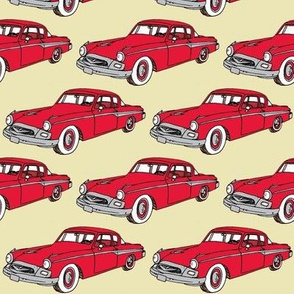 Nifty Fifties 1955 Studebaker red on ivory
