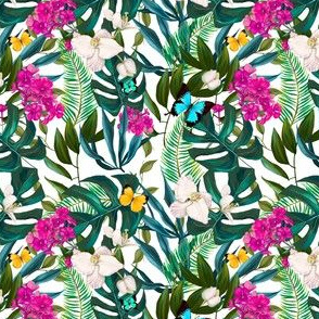 "4"" Love Summer Florals & Tropical Leaves"