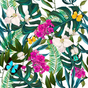 "21"" Love Summer Florals & Tropical Leaves"