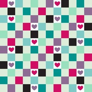 Checkered with Hearts (Sugar)