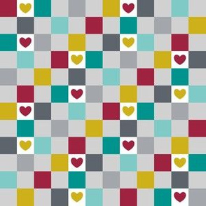 Checkered with Hearts (Spice)