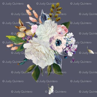 """8"""" Spring Bouquet - Dark Lilac"""