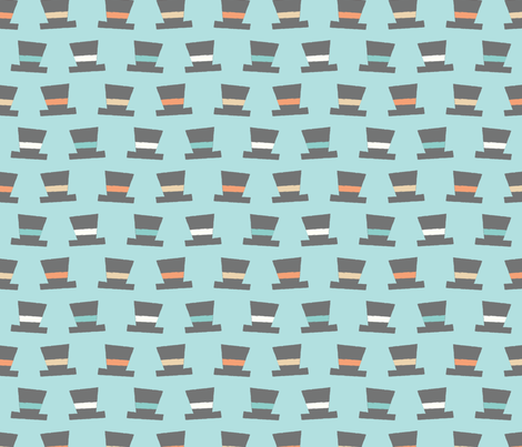 Tophats-Blue fabric by taylorshannon on Spoonflower - custom fabric