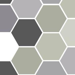 Hexagonal Sage and Lavender (Large )