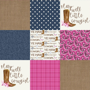 Western//Sleep Well Little Cowgirl - Wholecloth Cheater Quilt