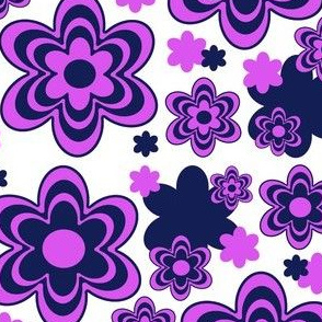 Orchid Navy Floral