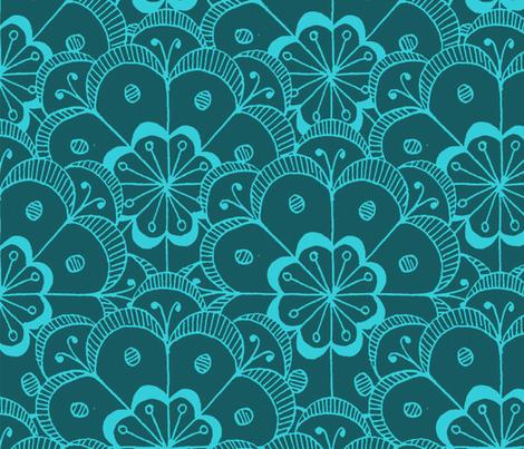 Art Deco Flower Pattern fabric by justv on Spoonflower - custom fabric