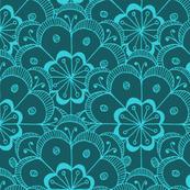 Art Deco Flower Pattern