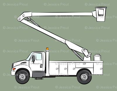 bucket trucks - sage green