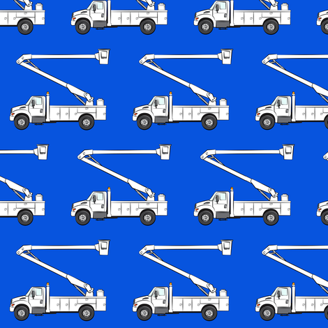 Bucket trucks blue fabric littlearrowdesign spoonflower for Little blue truck fabric