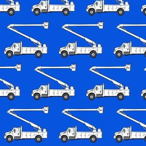 bucket trucks - blue