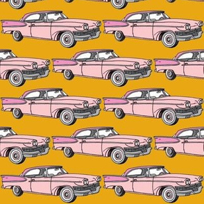Nifty Fifties pink 1957 Studebaker with fins