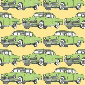 Nifty Fifties green 1954 Studebaker on