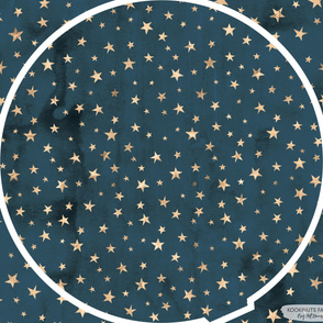 Gold Stars on Navy Blue kookinuts Play Mat Roundie Panel