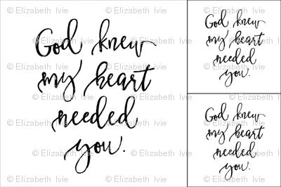1 blanket + 2 loveys: God Knew My Heart Needed You