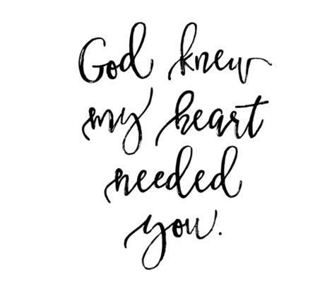 """God Knew My Heart Needed You // 42""""  fabric by ivieclothco on Spoonflower - custom fabric"""