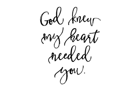 "God Knew My Heart Needed You // 54"" fabric by ivieclothco on Spoonflower - custom fabric"
