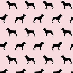 Rottweiler Dog Silhouettes Pink