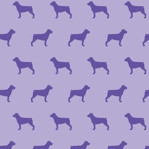 Rottweiler Silhouettes on Purple