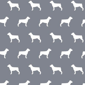 Rottweiler Silhouettes on Cool Grey