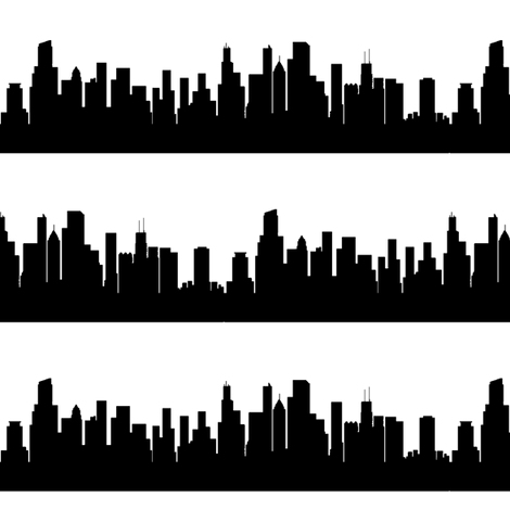 Chicago, IL fabric by thinlinetextiles on Spoonflower - custom fabric