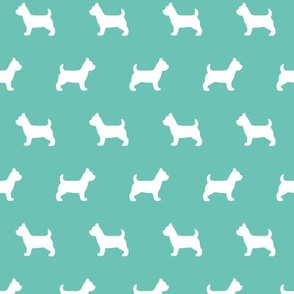 Terrier Silhouettes on Turquoise