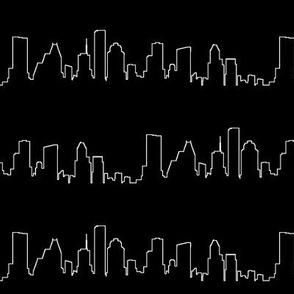 Houston, TX Outline // Black