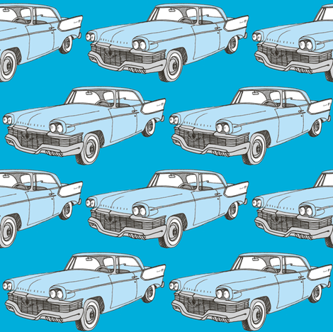 Nifty Fifties 1957 Studebaker 2 door hardtop fabric by edsel2084 on Spoonflower - custom fabric