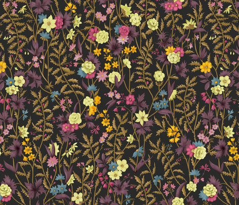 WilliamKilburnspring-dark fabric by gaiamarfurt on Spoonflower - custom fabric