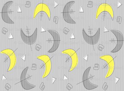 Boomerangs!  Grey and Yellow