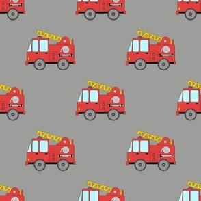 Firetruck on grey background