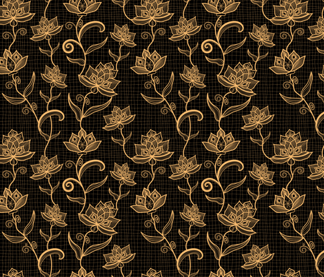 lace tendrils fabric by meterlimit on Spoonflower - custom fabric