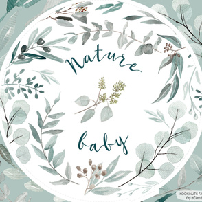 Nature Baby Green Playmat Roundie Panel Australiana Native Plants Fabric