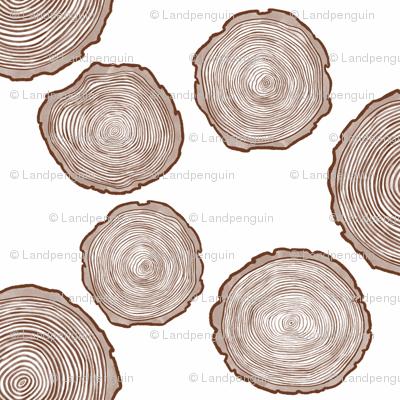 Large Brown Tree Rings